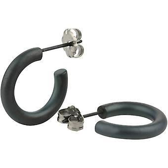 Ti2 Titanium 12mm Hoop Earrings - Black