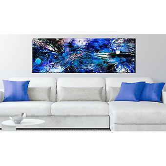 Maalaus - Sininen taiteellinen kaaos135x45