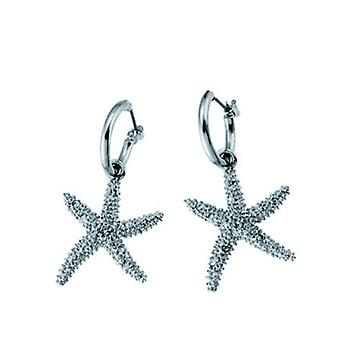 Oliver Weber Post Earring Starfish Rhodium Crystal
