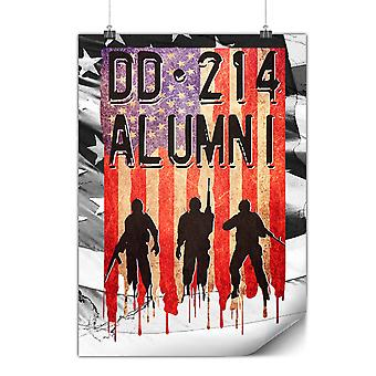 Matte or Glossy Poster with DD214 Alumni | Wellcoda | *y3567