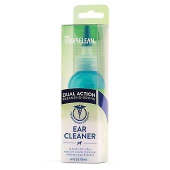Tropiclean Double Action Cleansing & Dying Ear Cleaner for Pets, 118ml