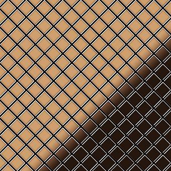 Metall mosaik TITANLEGERING Diamond-Ti-AM