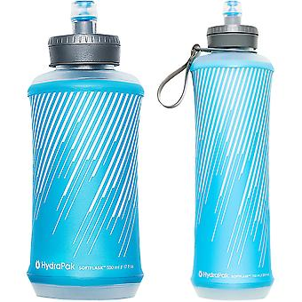 HydraPak SoftFlask Leakproof Wide Mouth Handheld Water Bottle - Malibu Blue