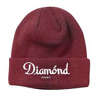 Diamond Supply Co Champagne Beanie Burgundy