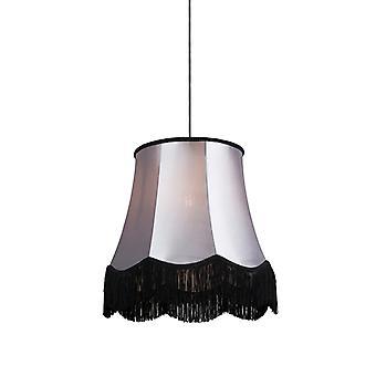 QAZQA Retro Hängeleuchte schwarz mit grau 45 cm - Oma