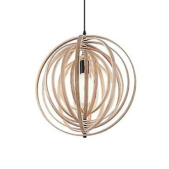 Ideal Lux - Disco Natural Wood Pendant IDL138275