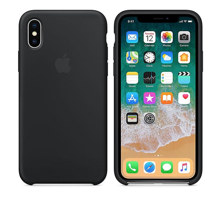 In its original packaging MQT12ZM/A Apple silicone Micro Fiber cover case for iPhone X - black