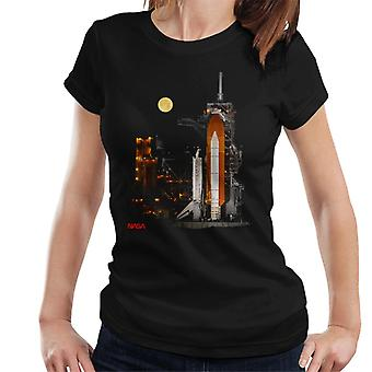 NASA STS 110 Discovery Shuttle At Launch Pad Women's T-Shirt