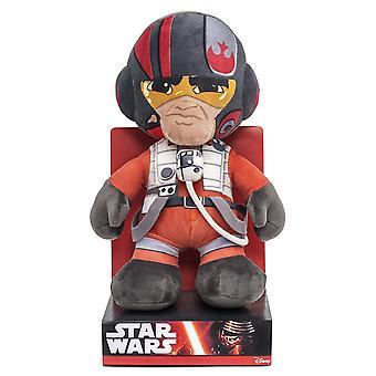 Star Wars Plüschfigur Poe Episode 7 multicolor, 100% Polyester, Velboa-Samtplüsch, in Displaybox.