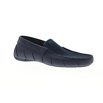 Robert Wayne TF Water  Mens Blue Mesh Casual Slip On Loafers Shoes