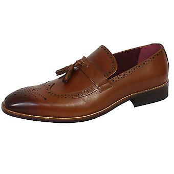 Azor tuscany men's tan laofer shoes