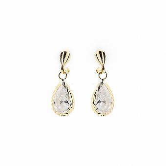 Eternity 9ct Gold Diamond Cut Cubic Zirconia Boucles d'oreilles