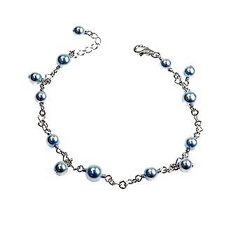 Bracelet Blue Pearls 19 Cm