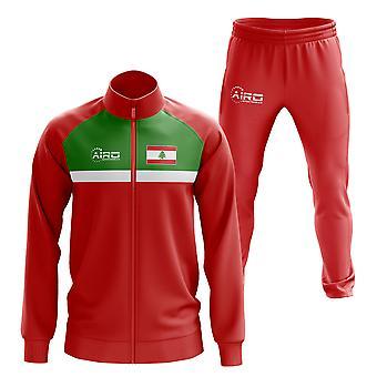 لبنان مفهوم كرة القدم tracksuit (الأحمر)