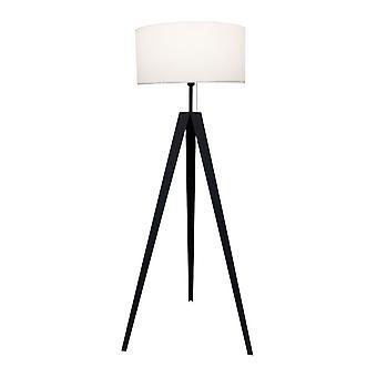 Lámpara de pie Kuno negro + metal blanco triph 153cm 10841