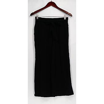 Anybody Pants Loungewear Cozy Knit Front Tie Wide Leg Black A302402