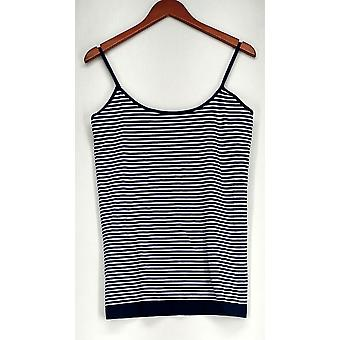 Attention L/XL Striped Camisole w/ Adjustable Straps Blue Top Womens #1