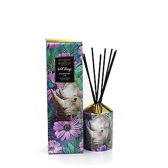 Ashleigh e Burwood Wild Things Luxury Scented Reed Difusor Boxed Gift Set Rhino Saw Us - Violet & Amber