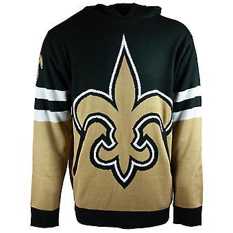 NFL Ugly Sweater Big Logo Hoody - New Orleans Saints