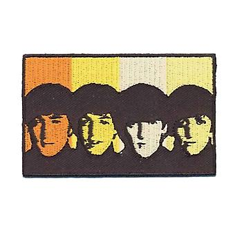 The Beatles Patch Heads in Bands Portait Band Logo new Official Woven Iron on