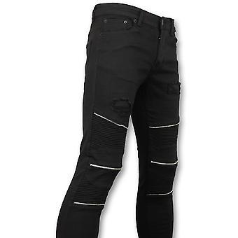 Skinny Biker Jeans - Collectie Online -  Zwart