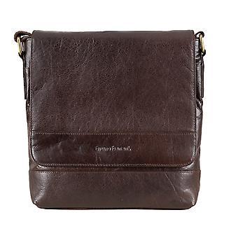 Bruno Babbar mens leather bag shoulder bag shoulder bag Briefcase Brown 6468