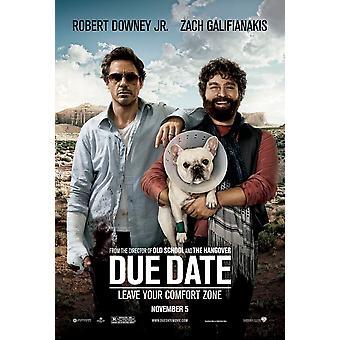 Förfallodatum affisch (Robert Downey Jr) dubbelsidig Advance (2010) original Cinema affisch