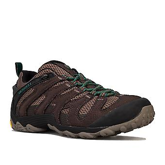 Mens Merrell Cham 7 Slam Trainers In Brown- Lace Up Closure- Merrell Air Cushion