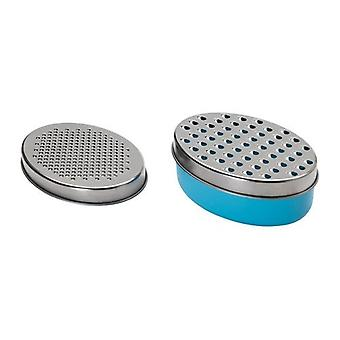 2 X Cheese / Vegetable Grater Stainless Steel with 1 X Food Saver Container & Lid