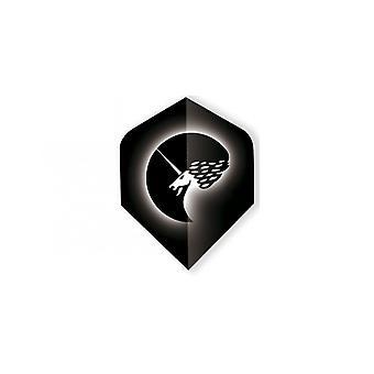 Unicorn Darts Core.75 Micron Plus Vuelos Rango de Polivuelo Metálico - Blanco