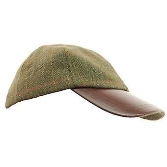 Tweed läder SKIP hat