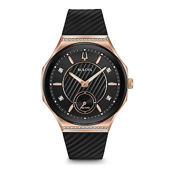Bulova 98r239 kvinder ' s Diamond curv Watch