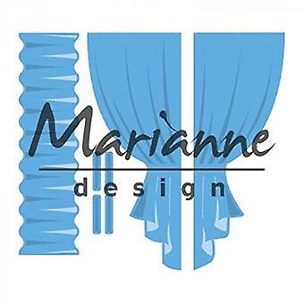Marianne Design Creatables Curtains Die, Metal, Blue, 15.1 x 13.4 x 0.2 cm