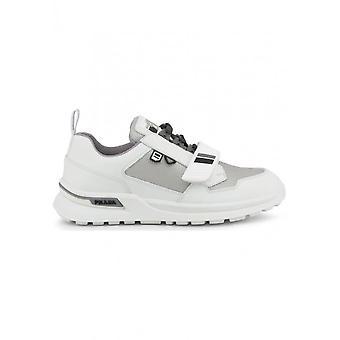Prada - buty - Trampki - 2EG266_F0GJ36 - Mężczyźni - biały,srebrny - 40