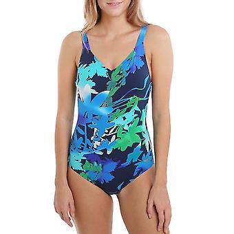 arena Womens Doris One Piece U Back Trening Kostium kąpielowy kąpielowy - Navy