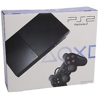 Sony Playstation 2 Konsole Slim - Schwarz (Slim Model BLUE BOX - EU Stock)