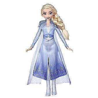 Disney Frozen 2 Elsa Módní Panenka s dlouhými blond vlasy a modré oblečení