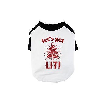 Get Lit Christmas Tree Cool BKWT Pets Baseball Shirt Holiday Gift