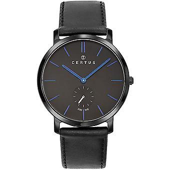 Certus 611062 relógio - relógio homem de couro preto