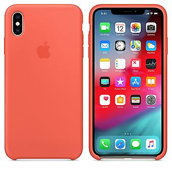 Original packaging Apple silicone Micro Fiber cover case for iPhone XS Max - Nectarine orange