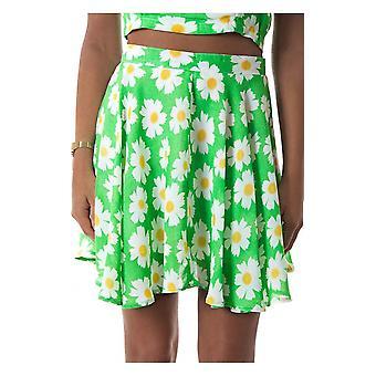 Daisy Duty Chiffon Skater Skirt In