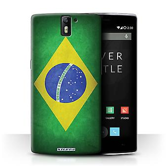 STUFF4 Case/Cover for OnePlus One/Brazil/Brazilian/Flags
