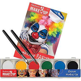 Bristol Novelty Aqua Fantasy Face Paint Set with Book and Sponge