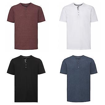Russell Mens Henley HD T-Shirt