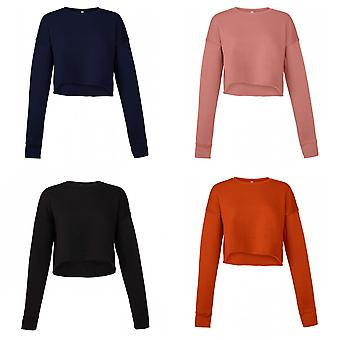 Bella + Canvas Womens/Ladies Cropped Crew Fleece Top