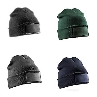 Result Adults Unisex Double Knit Printers Beanie