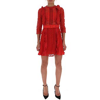 Self-portrait Sp23078red Women's Red Polyester Dress