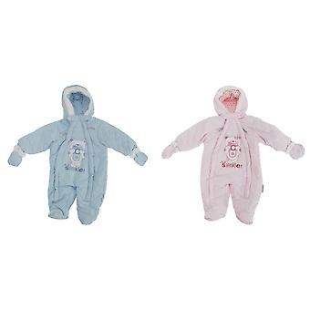 Baby Boys/Girls Teddy Bear Camera All In One Hooded Winter Snowsuit