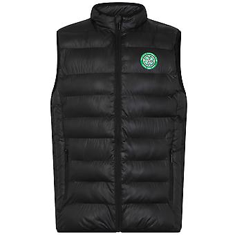 Celtic FC Official Football Gift Mens wyściełane Body Warmer Gilet