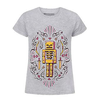 Minecraft Skelly Dreams Skeleton Girl's Grey T-Shirt